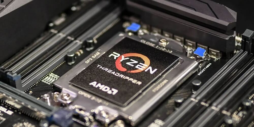 An AMD Threadripper processor